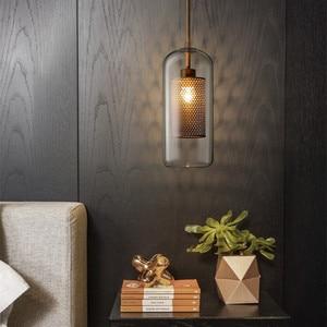Image 5 - Nordic Industrial Loft Light Creative Concise Glass Dining Room Pendant Light Retro Bar Study Hanging light Free Shipping