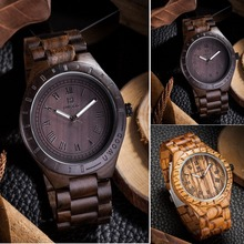Original Wood Men's Wristwatch 2016 Festival Memorial Day Creative Men gift Relogio Masculino Quarzt Movement New Wooden Watches
