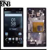Original For Sony Xperia Z5 Compact Mini LCD Display + Touch Screen Digitizer Assembly with frame free shipping