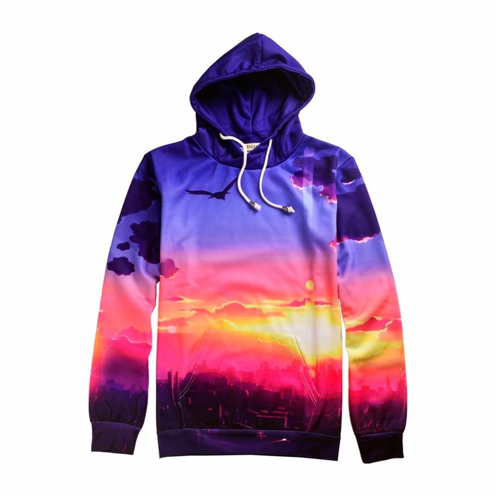 2017 New fashion autumn burning clouds Crewneck sweatshirt 3d print women/men pullover males hoodie long sleeve shirt hoodie