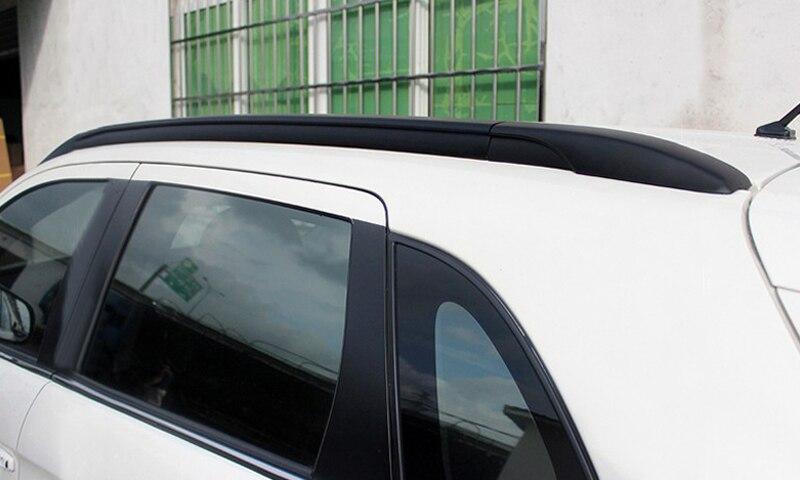 2013-2016 pour Mitsubishi RVR/ASX/Outlander Sport Top barres de toit Rails côté porte-bagages garniture Aluminium noir