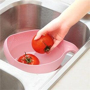 Image 3 - Cozinha tigela de arroz tigela de frutas de plástico grosso dreno cesta com alça de lavagem cesta para casa suprimentos cozinha alta qualidade