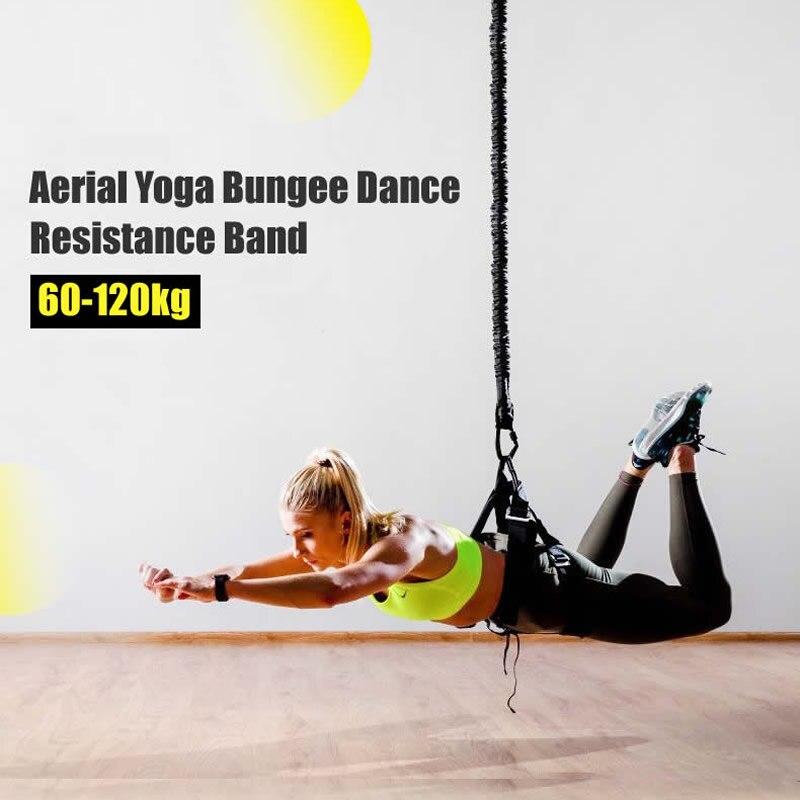 Bungee De Danse Bandes de Résistance Fitness Yoga Aérien Cordon Pilates Élastique Suspension Fronde Anti-gravité Professeur De Yoga Corde de Traction - 2
