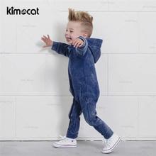 Kimocat Baby Boy Clothes Pasgeboren Kleding Kerst Babykled Cotton Newborn Jumpsuit Hooded Onesie Boys Romper Playsuits