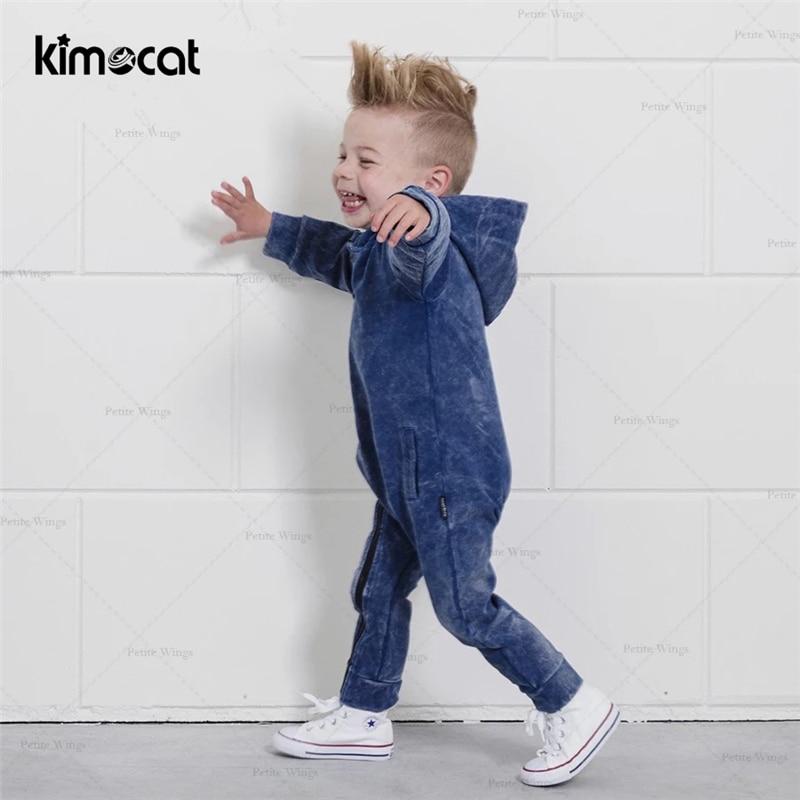 Kimocat Baby Boy Clothes Pasgeboren Baby Kleding Kerst Babykled Cotton Newborn Jumpsuit Hooded Onesie Baby Boys Romper Playsuits