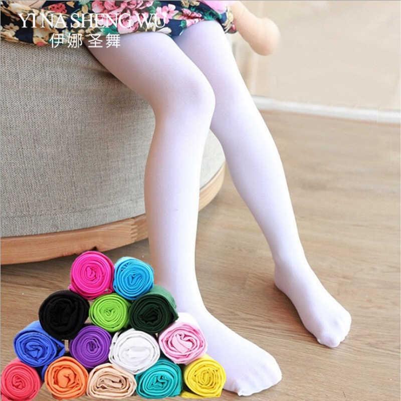 14 צבעים ילדה דק סעיף אופנה גרביונים תינוק קטיפה גרביונים ילדי בלט ריקוד גרבי אביב קיץ ילדים ריקוד גרביונים
