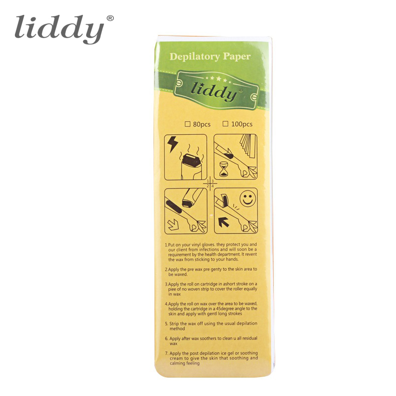 100 pcs Professional Hair Removal Tool Depilatory Paper Nonwoven Epilator Women Wax Strip Paper font b