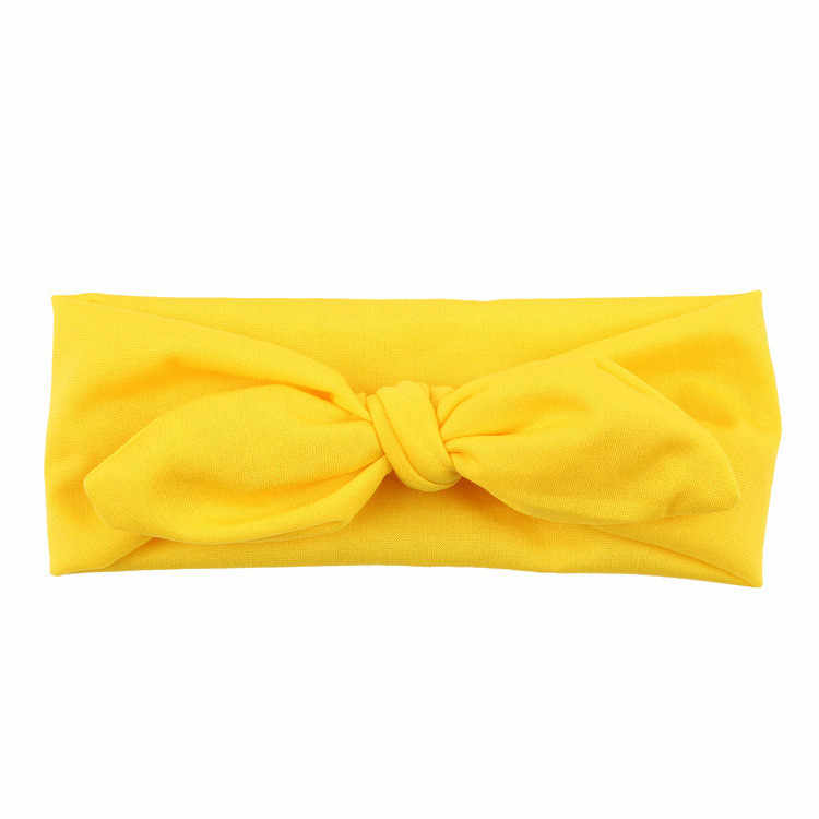 תינוק ילדים בנות ארנב קשת אוזן חמוד גומייה לשיער לפעוטות בנות מוצק מזדמן אופנה סרט טורבן קשר ראש כורכת turbante bebe