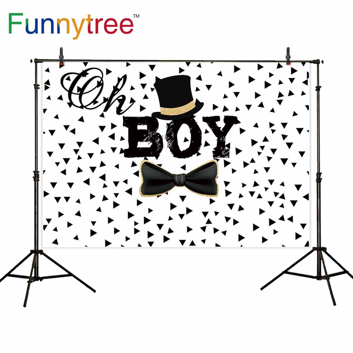 Funnytree background for photo white Hat bow <font><b>boy</b></font> <font><b>baby</b></font> <font><b>shower</b></font> birthday <font><b>backdrops</b></font> photography photocall photobooth photophone image