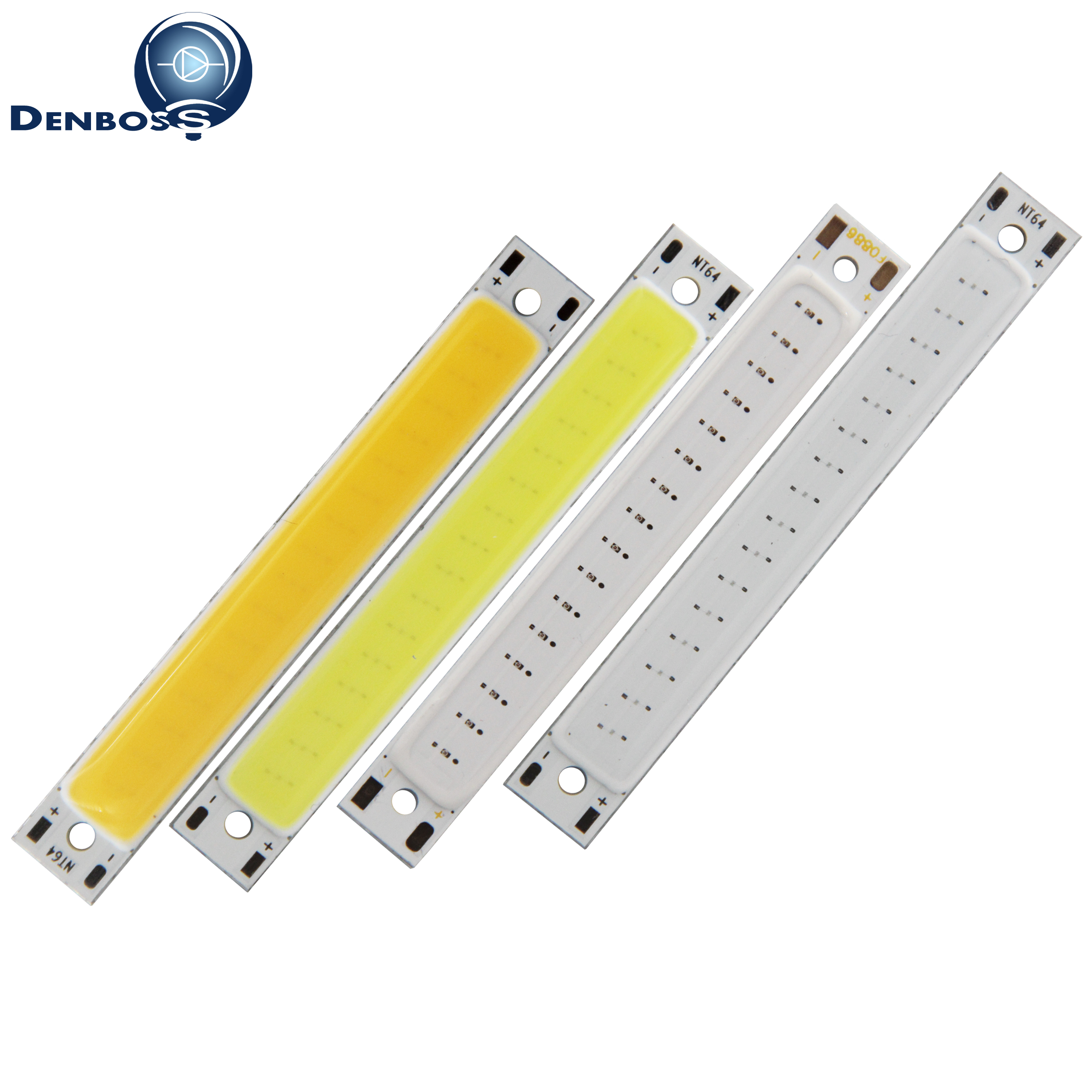 big promotion 60x8mm COB LED Strip 3W 2V 3V DC for work lamp DIY Bike light Bulb Warm White Blue Red led cob tubes Light source