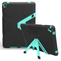 For Funda IPad Air 2 Case Heavy Duty PC Rugged Impact Hybrid Stand Cover Cases For