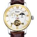 Часы Nesun Skeleton Tourbillon Switzerland  мужские часы класса люкс  автоматические  водонепроницаемые  сапфировые  N9031-4
