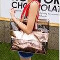 2017 новая мода лето женщины сумки панелями прозрачный мешок плеча сумки Пляжная сумка