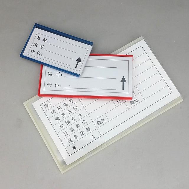 Multi Scelta di Plastica Magazzino di Stoccaggio Scaffale Elemento Etichetta Tag Tab Segno Titolari di Carta di Nome da Morbido Forte Magnetico su posteriore 20 pcs