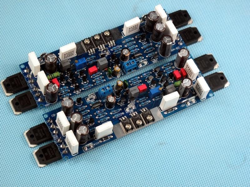 AM-60 100W * 2 2.0 channel amplifier board DIY fever class AB ON NJW0302 / NJW0281 amplifier boards/one order 2pcs amp board 450w 450w hifi stereo amplifier board on njw0281 njw0302 amplifier board