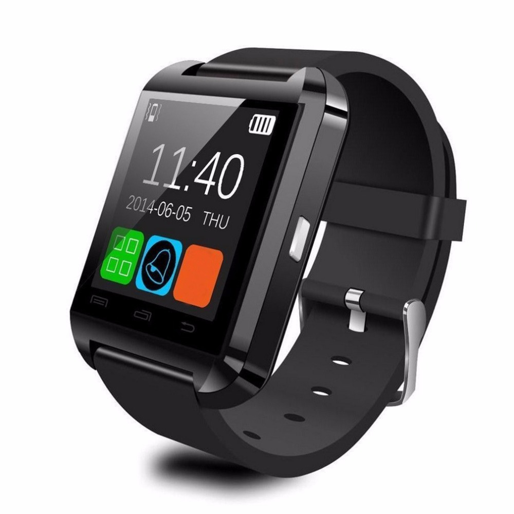 1.48 inch LCD Bluetooth U8 Smart Wrist Watch 2.4GHz U8 Phone Camera Card smart watch for IOS Android XIAOMI Smart Phone PK DZ09