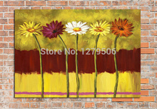 Hand Painted floral wall art Canvas Oil Painting Modern Flower Oil Painting Wall Painting On Canvas Art for living room bedroom лампа люминесцент camelion 15вт g13 900лм 6500k 230в трубка