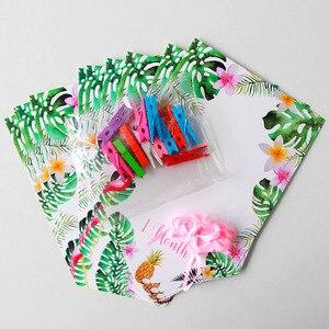 Image 3 - 12 наклеек, баннер, украшение для первого дня рождения, Скрапбукинг для девочек и мальчиков 1 год