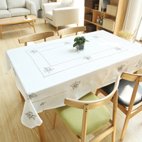 Cotton Cloth Fabric Tablecloth Simple Small Fresh Tea Table Square Round Table Cloth Party Restaurant Picnic
