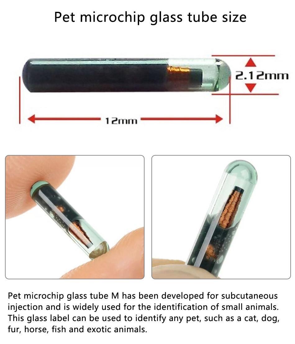 500pcs/lot 2.12mm 134.2KHz ISO FDX-B Animal Dogs  Pet Microchips Transponder Animal Id