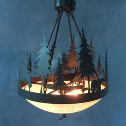 Amerykańskie lampy wiszące kraj żelazo retro poroże leśne nordycki kreatywny restauracja mały salon bar jadalnia LU725235