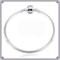 Fabryka Bezpośrednio Sprzedaży Najwyższej Jakości 925 Sterling Silver Zapięcie Wąż Charm Bransoletki Z Logo Moment