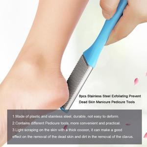 Image 4 - 8 ชิ้น/เซ็ตเล็บเท้าเล็บเท้าเครื่องมือดูแลExfoliatingป้องกันผิวเล็บFeet Careชุดเครื่องมือขัดเท้า