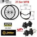 Колеса для горного велосипеда 27 5 er 650B  колеса для горного велосипеда  28 мм  ширина 22 61 мм  глубина XC