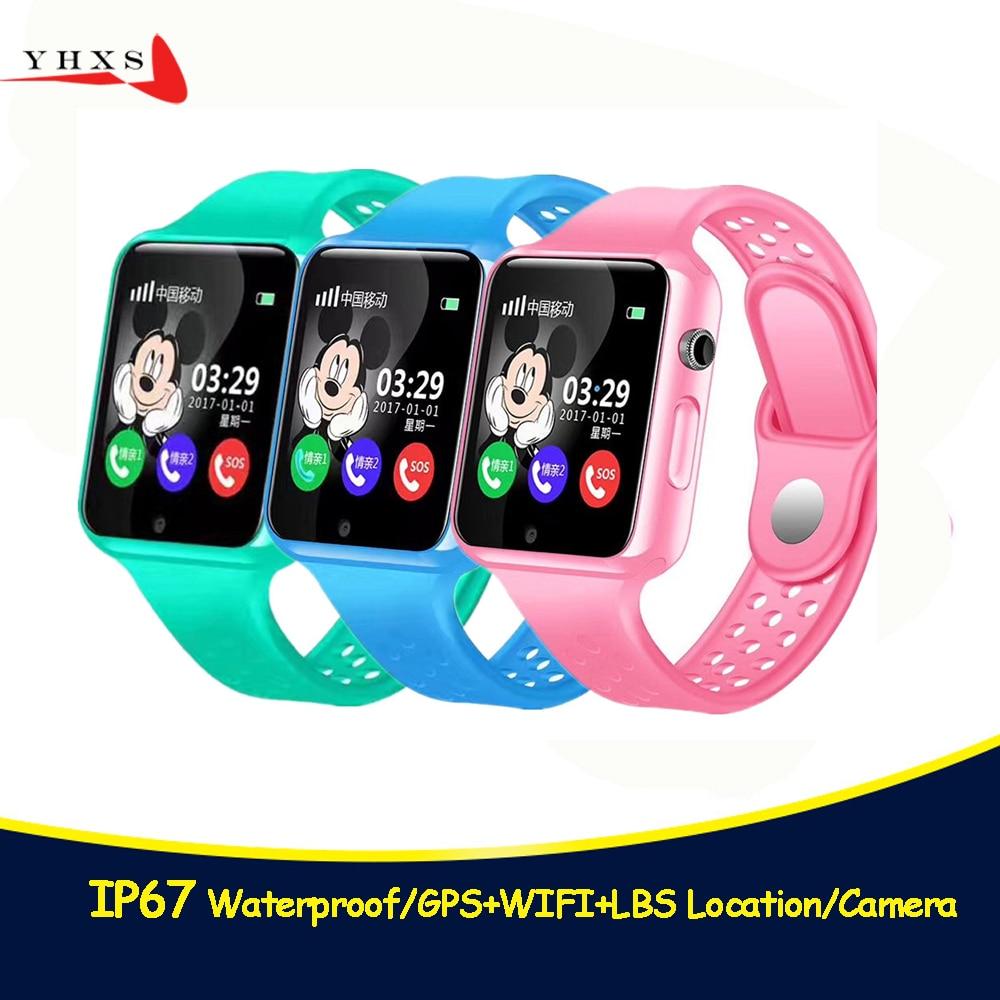 G98 Localização GPS Tracer Bluetooth Inteligente Telefone Do Relógio para Crianças Menino Menina SIM TF Monitor Remoto Da Câmera SOS Chamada Whatsapp relógio de pulso