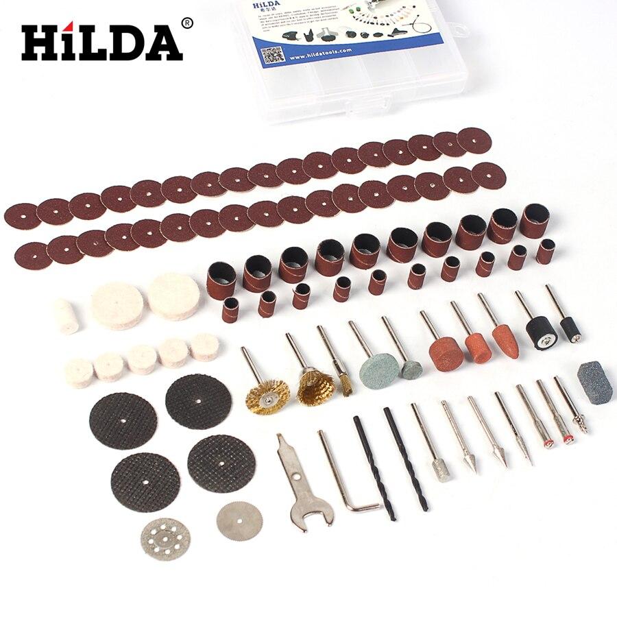 HILDA 92 Stücke Holz Metall Gravur Elektrische Drehwerkzeug Zubehör für Dremel Bit Set 1/8