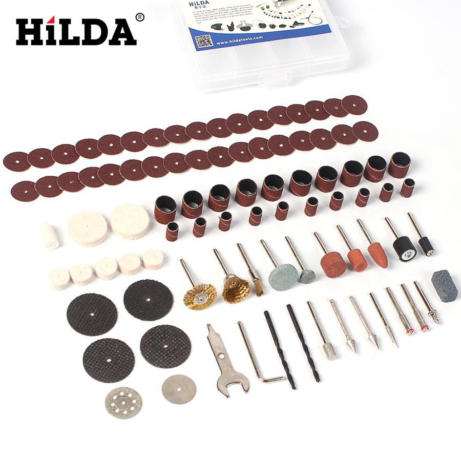 HILDA 92Pcs Dremel Accessories for Dremel Rotary Tool Accessory Set Fits for Dremel Drill Carving Grinding Polishing Accessories