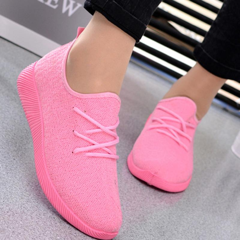 Womens Breathable Mesh Sneakers Sports Skateboarding Shoes Athletic Classical White/Purple/Pink/Black Sneakers Walking Flat