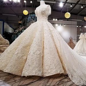 Image 3 - קיצוני יוקרה ללא שרוולים סקסי בציר חתונה שמלות 2020 קריסטל פרחי מותאם אישית high end טול הכלה שמלה