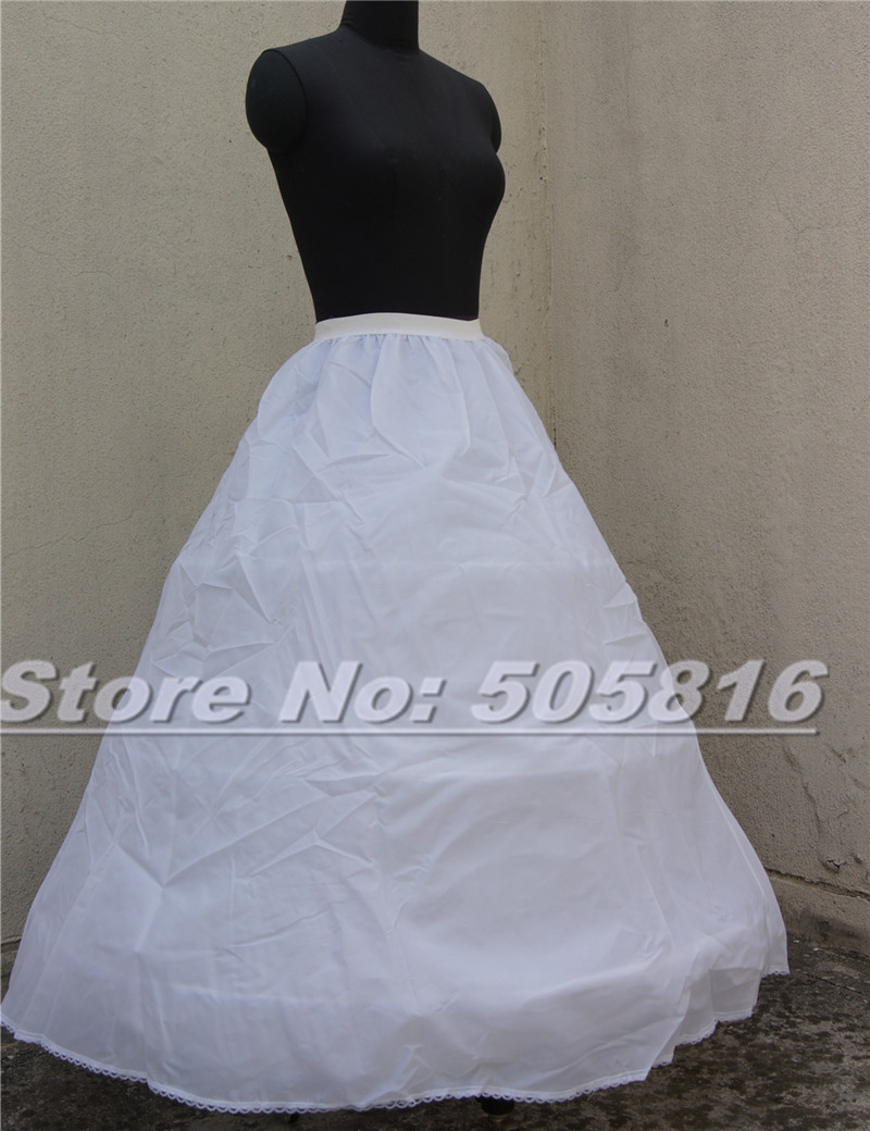 Новый Белый 3 Обруч 2 Слой-Линии Свадебные Кринолин юбки Underskirt Полный Скольжения 20160146-125