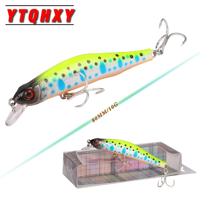 YTQHXY Boxed Fishing Lures Minnow Crank 80mm 10g magnet system High Quality Hard Bait Wobblers Crankbait Fishing Tackle YE-403
