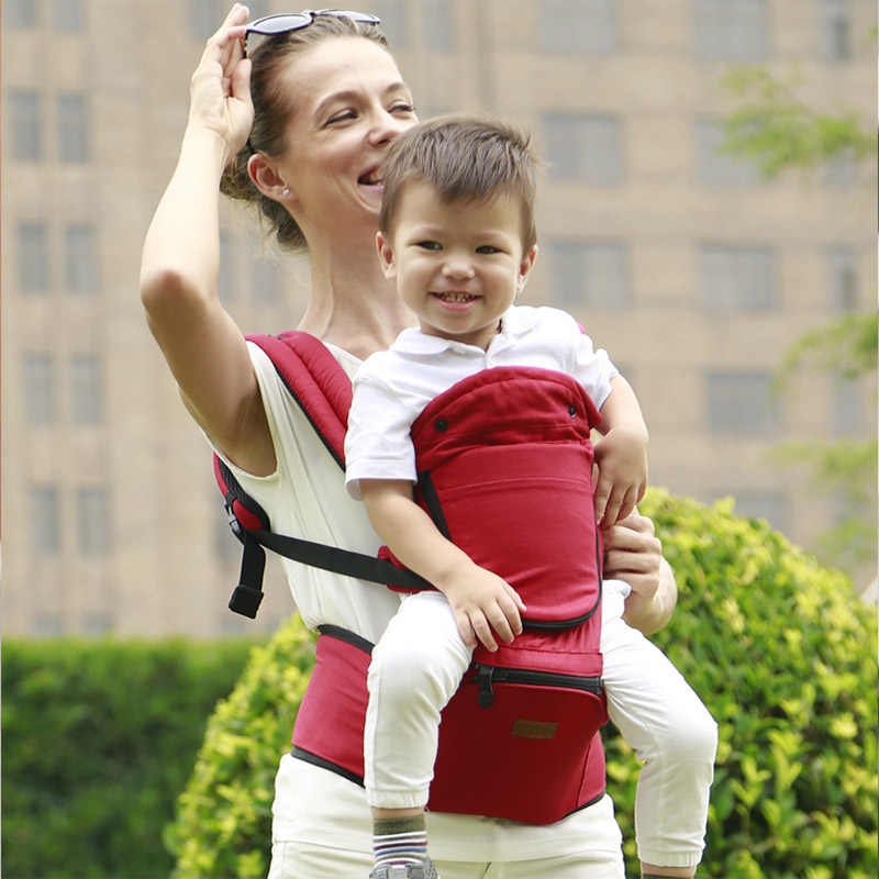 Jerrybaby Ergonomic Baby Kangaroos Infant Backpack Carrier Adjustable Hipseat Fashion Slings For Carrying Childrean Breathable