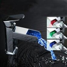 Медь кран охраны окружающей среды гидроэнергетика из светодиодов контроль температуры туалет кран кран