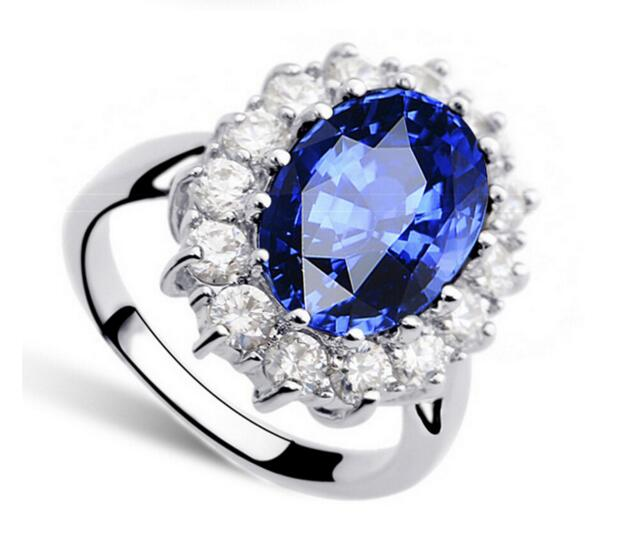 Luxury British Kate Princess Diana William Engagement Ring With Crystal Wedding  Rings For Women