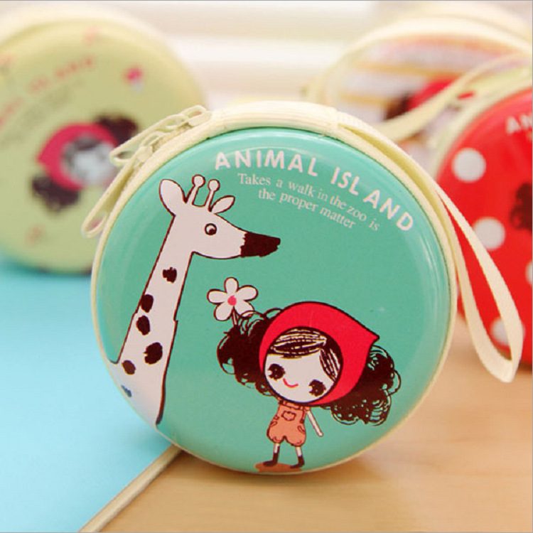 2016 New Arrival 7*3CM Tinplate Korean cute girl Coin Purse Small Mini Coin Key Bag Coin Wallet Gift for Children Kids Baby 2015 new arrival kids rabbit animal pattern wallet children baby purse women girl coin bag key pouch for birthday gift