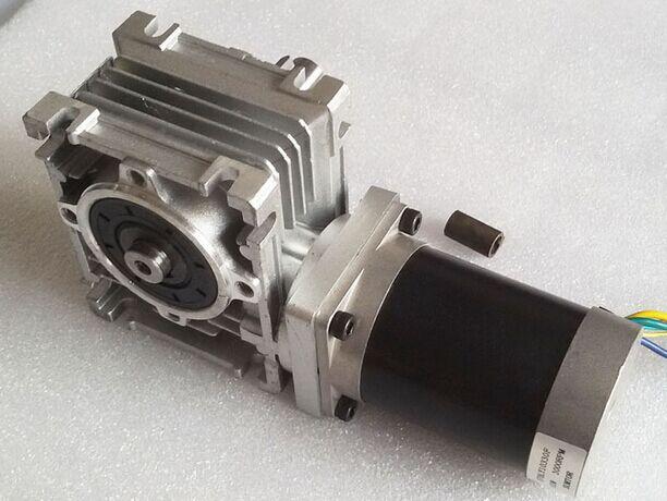 ФОТО 57mm Worm Gearbox Geared Stepper Motor Ratio 15:1 NEMA23 L 76mm 3A
