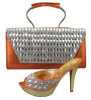 African Matching Shoes And Handbag Set Fashion Women Shoes With Matching Bag Set For Wedding And