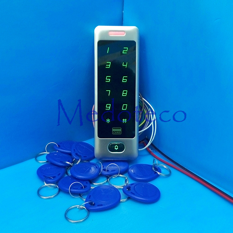 IP68 Waterproof Rfid Access Controller 125Khz EM Card Door Access Control Outdoor Metal Case touch keypad Access Control System