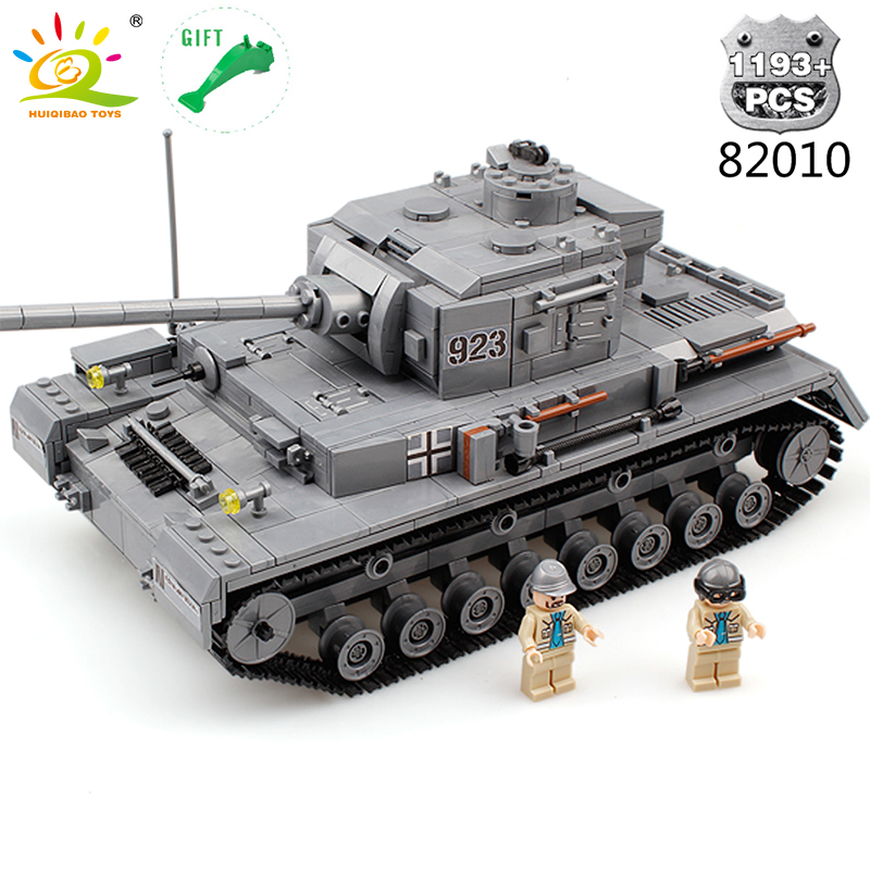 HUIQIBAO TOYS 1193pcs Military Series Large Panzer Tank Building Block Compatible Legoed City Enlighten Bricks Toys For Children gudi block city large passenger plane airplane block assembly compatible all brand building blocks educational toys for children