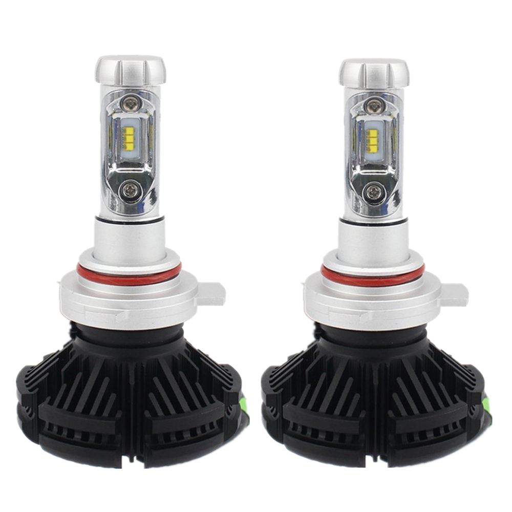 1Pair Car LED Headlight 9012 Fog Daytime Running Light Bulb 50W LED Headlight Car Automobile LED Headlamp For VW Ford Toyota Kia