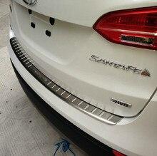 Из нержавеющей стали заднего бампера дверной порог для 2013 до Hyundai Santa fe IX45