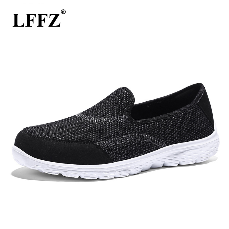 LFFZ 2018 New Large Size Women Shoes Breathable Flats Shoes Casual Shoes For Women Casual Sneakers Knit Lazy Shoes JH115 цена