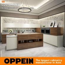 Последние стили мебель для кухни материал фасада меламина Blum аксессуары Современных кухонного шкафа OP16-118