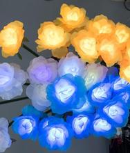 Светодиодный напольный фонарь Открытый Газон и газон праздничные фонари Роза для украшения напольные фонари