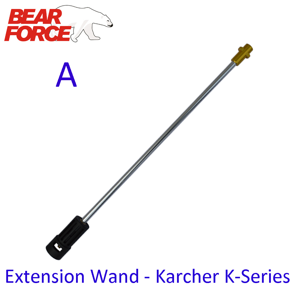 """High Pressure Washer Extension Lance Car Washer Gun Lance Extension Wand Spear Tube M22 & 1/4"""" Quick Connection for Karcher"""