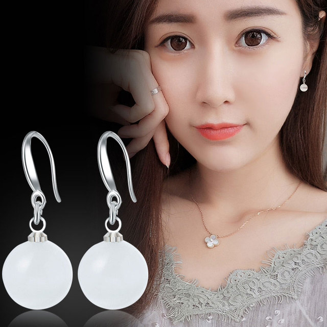 Imitation Pearl Dangle Earrings 5